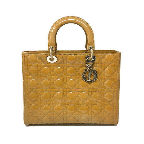 Christian Dior Large Patent Lady Dior Bag