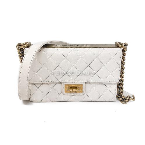 Chanel White Reissue Trendy Shoulder Bag