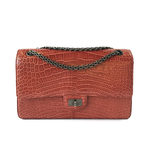 Chanel Red Alligator 2.55 Reissue Double Flap