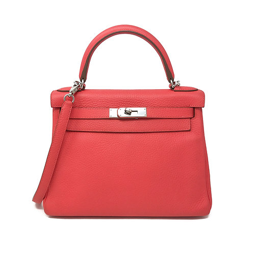Hermes Rouge Clemence Kelly 28cm - Stamp R