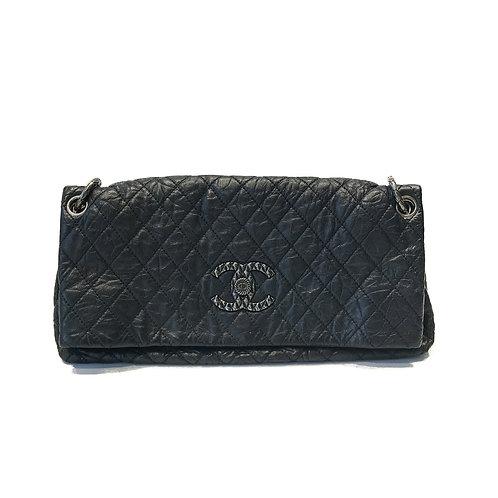 Chanel Distressed Quilted Flap Foldover Shoulder Bag
