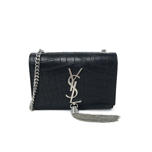 Saint Laurent Small Kate Croc Crossbody Bag