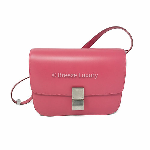 Céline Medium Classic Box Silver Hardware Bag