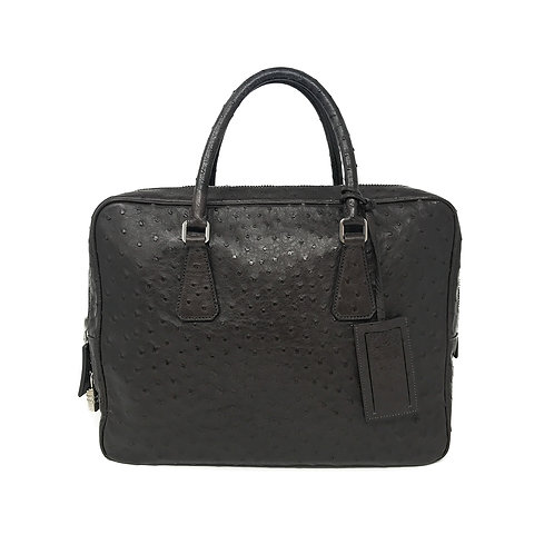 Prada Ostrich Leather Briefcase