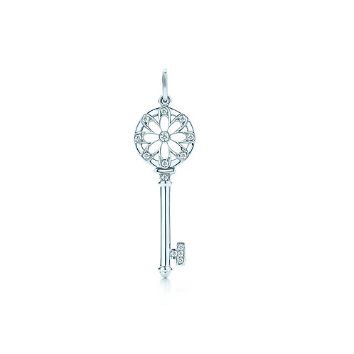 Tiffany & Co. Floral Key Pendant