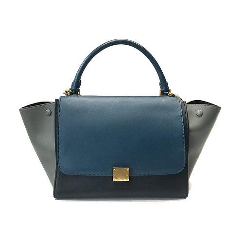 Celine Tri Color Smooth Leather Medium Trapeze Bag