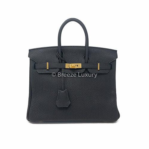 Hermes Togo Noir GHW Birkin 25