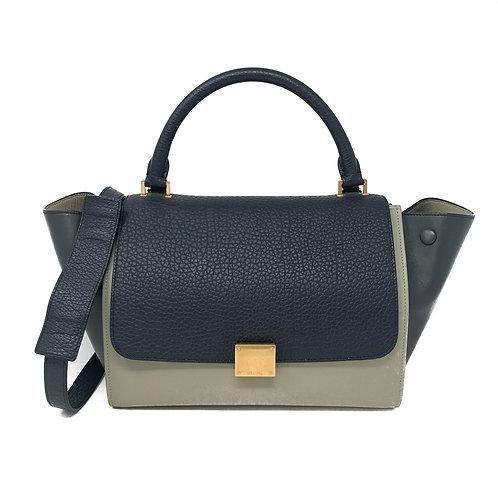 Celine Calfskin Tri-Color Small Trapeze Bag