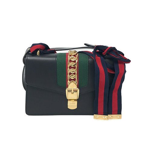 Gucci Black Sylvie Small Shoulder Bag