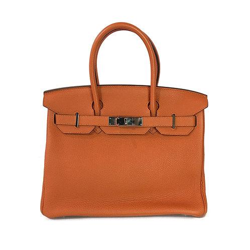 Hermes Birkin 30 Clemence Orange