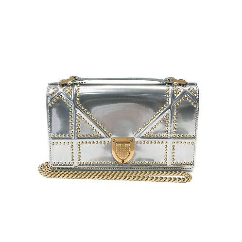 Christian Dior Diorama Handle Clutch with Chain
