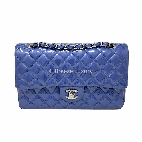 Chanel Quilted Medium Patent Double Flap Bag