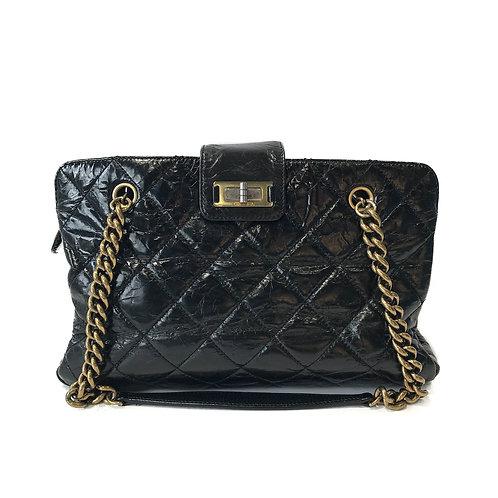 Chanel 2.55 Reissue Lock Black Tote Bag