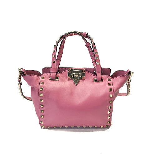Valentino Garavani Rockstud Pink Mini Tote