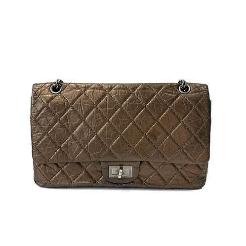 Chanel Bronze 2.55 Reissue Quilted Classic Double Flap Bag (Size 227)