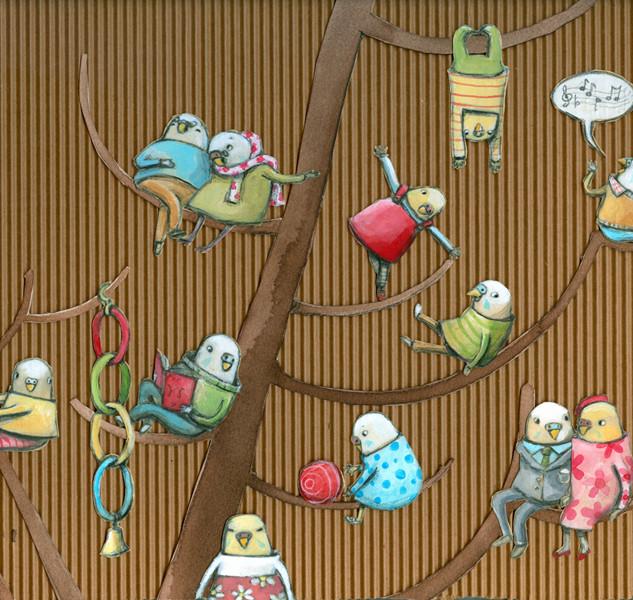 Parakeets for Viviane Schwarz