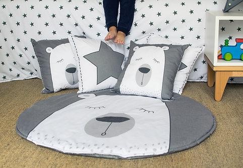 COMBO S alfombra de juego + 2 almohadones+ 1 banderín