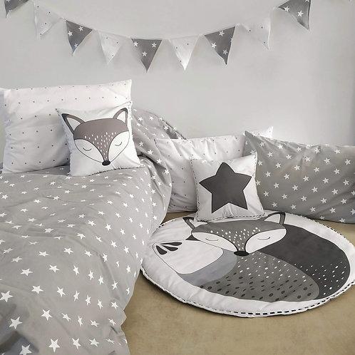 COMBO cama CHICOS acolchado una plaza estampado+ 1 almohadon 50x70+ 2 alm 40X40