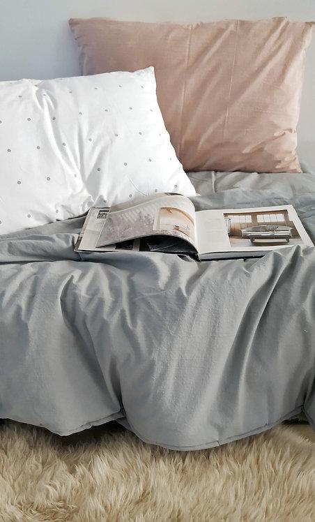 Acolchado cama una plaza tusor liso