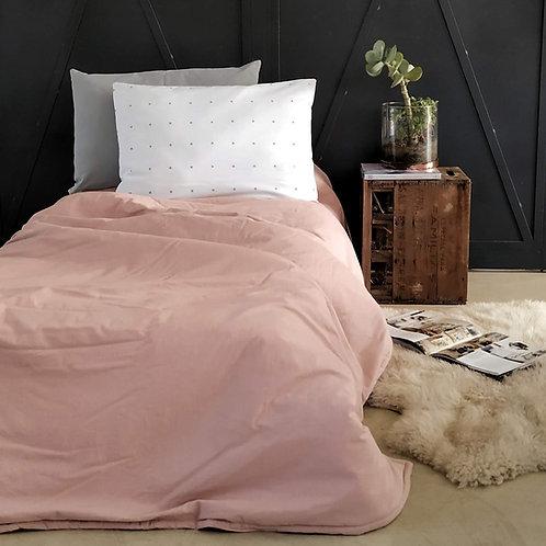 Acolchado cama plaza y media tussor liso