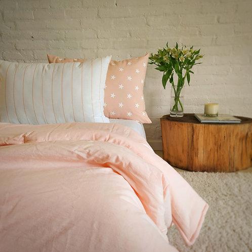 COMBO cama una plaza liso+ 2 almohadones 50x70