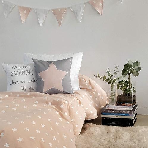 COMBO cama CHICOS TWIN funda de edredon estampada+1 almohadon 50x70+ 2 alm 40X40