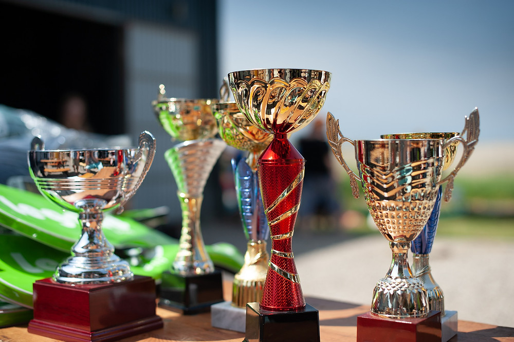 trophies rewarding recognition
