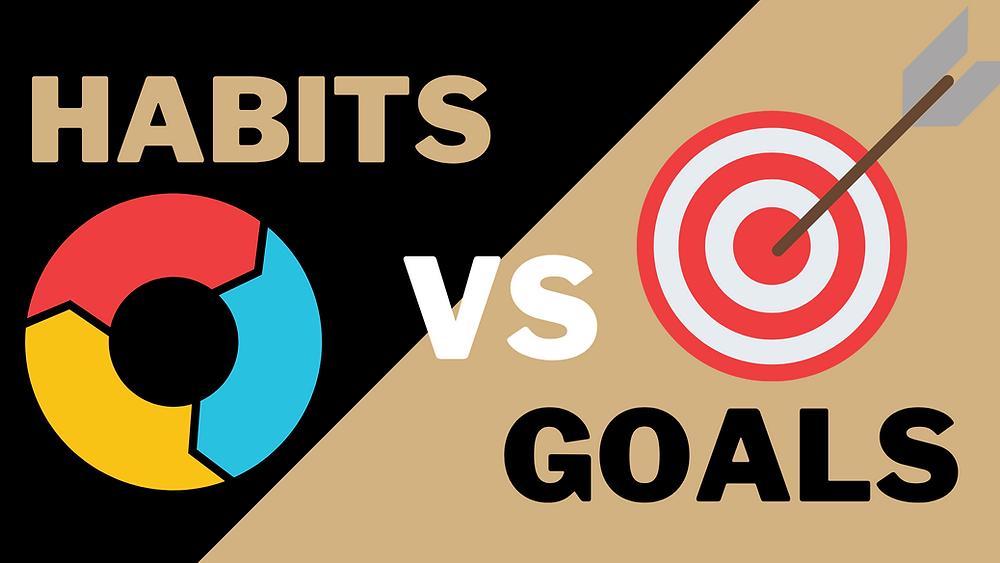 Habit vs goals infographic