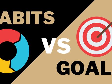 Goal focused vs Habit focused.