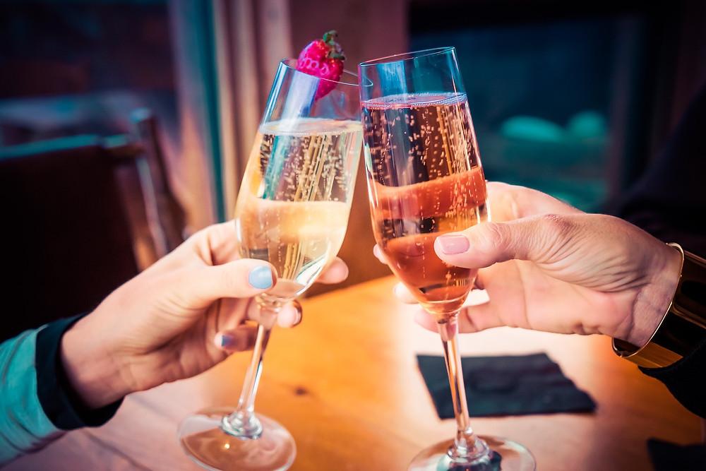 Champagne toasting celebrating success