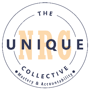 White Unique NRG Logo