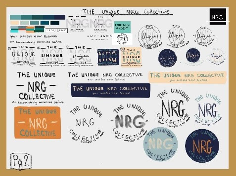 Design process of Unique NRG logo