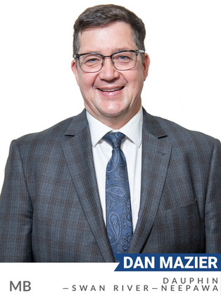 Dan Mazier (Conservative, Dauphin—Swan River—Neepawa) has been a major advocate for sustainable agriculture, natural infrastructure and renewable energy. He co-founded the Elton Energy Cooperative, a provincial initiative committed to developing community-based renewable energy projects in Manitoba. As President of Keystone Agriculture Producers, he advocated for natural solutions to protect agriculture and biodiversity. Mazier played a key role in the development of Manitoba's Green Plan, carbon pricing system and biofuel innovation strategy. Elected as an MP in 2019, Mazier served as Deputy Shadow Minister for Environment and Climate Change and on the Standing Committee on Fisheries and Oceans. He formerly served on the boards of several environment-focused Manitoba organizations.