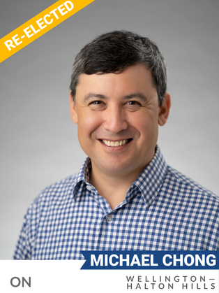 Michael Chong (Conservative, Wellington-Halton Hills) has been a Member of Parliament since 2004, advancing climate change discussions in his party ever since. He supported the Kyoto Protocol in 2004 despite his party's opposition, and worked within it to change their position in favour of the Protocol in 2006. He worked with various orders of government and with his federal colleagues to help establish a new national park in the GTA, Rouge Urban National Park. He co-founded the All-Party Climate Caucus in 2011 with Green Party leader Elizabeth May, which regularly brings together MPs from all parties to collaborate on climate initiatives. He has demonstrated interest in improving policies to protect Canada's Great Lakes. In the 43rd Parliament, Chong called on the federal government to increase funding for the Great Lakes Fishery Commission and shift the Commission's responsibility from Fisheries and Oceans Canada to Global Affairs Canada to give it higher priority. In the 2017 Conservative leadership race, he presented an ambitious plan to address climate change, advocating for economic policy that would reduce emissions and encourage economic growth through a revenue-neutral carbon tax. Chong currently serves as Shadow Minister for Foreign Affairs, strengthening climate policy's presence in Canadian foreign policy.