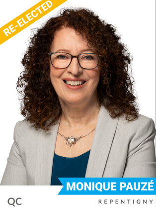 Monique Pauzé (Bloc, Repentigny) has spent years raising awareness of environmental and equity issues as a teacher, union coordinator, and MP since 2015. She has been a vocal champion of environmental priorities like eco-friendly schools, the restriction of pesticide use and fought successfully for the cancellation of the Energy East Pipeline.  In the 43rd session of Parliament, she served as the Bloc's critic for the Environment and Climate Change and Vice-Chair of the House Committee on environment and sustainable development, advocating for more robust action to address the climate crisis.