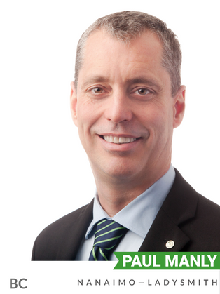 Paul Manly (Green, Nanaimo-Ladysmith) has been an outspoken advocate for environmental protection while in Parliament. Prior to being elected MP in 2019, Manly served as a director and board member to several bodies, and worked as a campaigner for environmental organizations such as Pollution Probe, Friends of the Earth, and GreenPeace. He has produced documentaries and shorts on environmental issues such as the TMX Pipeline, logging in BC, and drinking water protection. In parliament, Manly introduced a private member's bill (Bill C-261) to ban the shipping of thermal coal from Canadian ports. Manly has a long and strong history of public advocacy and support for environmental causes.