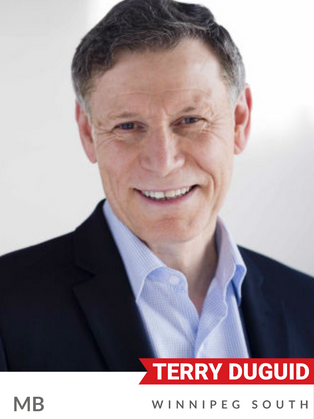 Terry Duguid (Liberal, Winnipeg South) has a wealth of experience in both the private and public sectors. Before being elected MP in 2015, Duguid served as a Winnipeg City Councillor, and as Manitoba's Clean Environment Commissioner. He also directed the Manitoba Climate Change Task Force's first action plan to grow Manitoba's green energy economy. A tireless advocate for Lake Winnipeg, Duguid was appointed Parliamentary Secretary to the Minister of Environment and Climate Change, where he led the federal government's efforts to advance freshwater protection in Canada. Duguid holds a Master's Degree in Environmental Science from the University of Calgary.