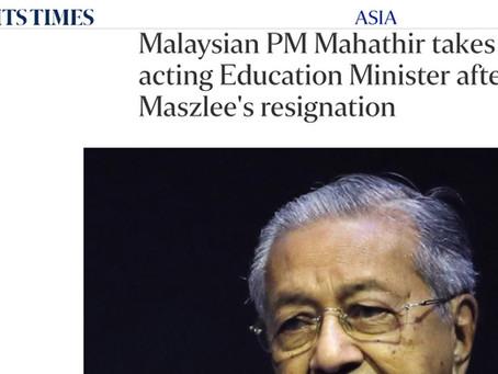 Mahathir Sebagai Menteri Pelajaran Melanggar Janji-Janji Pilihan Raya Pakatan Rakyat