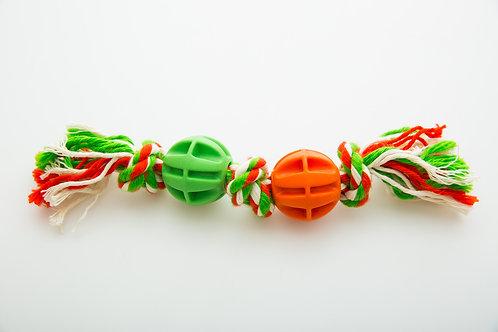 (B2Х) Dwie piłeczki ze sznurkiem oraz węzłami
