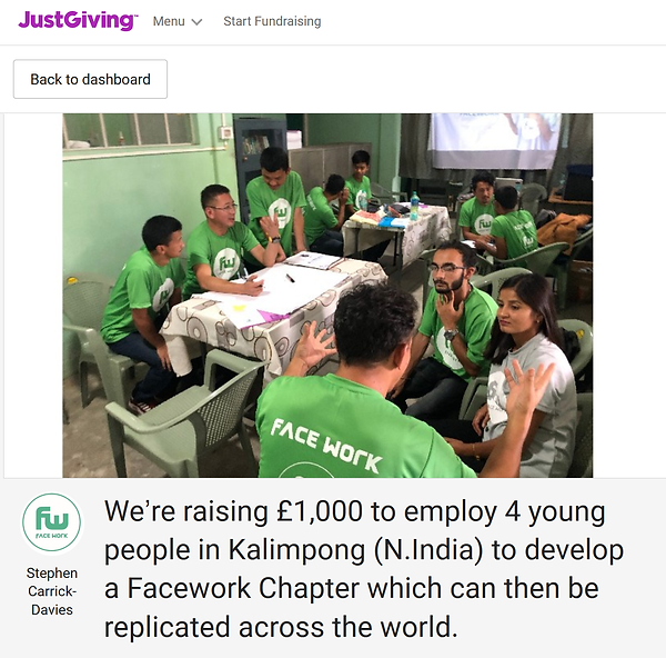 Kalimpong fundraising page for chapter -