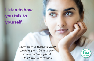Listen how you talk to yourself poster.p
