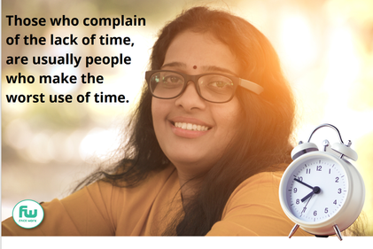 Those who complain of the lack of time..