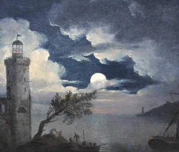 Marine au clair de lune