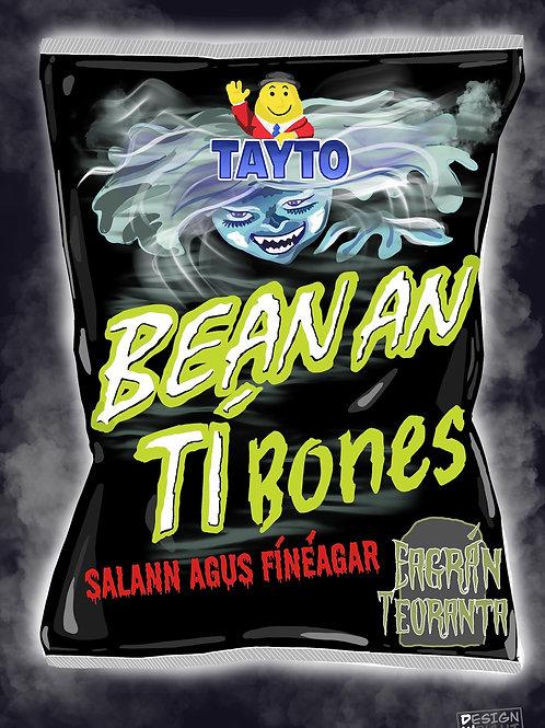Bean an Tí Bones Postcard A6