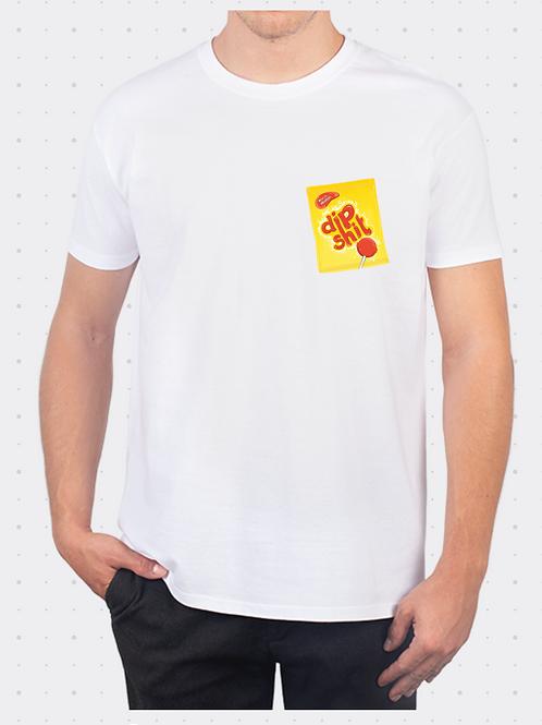 Dipshit Pocket Print T-Shirt