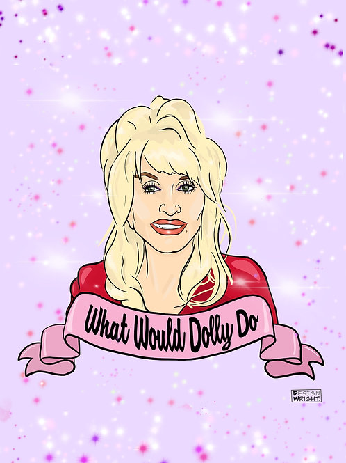 What Would Dolly Do Postcard