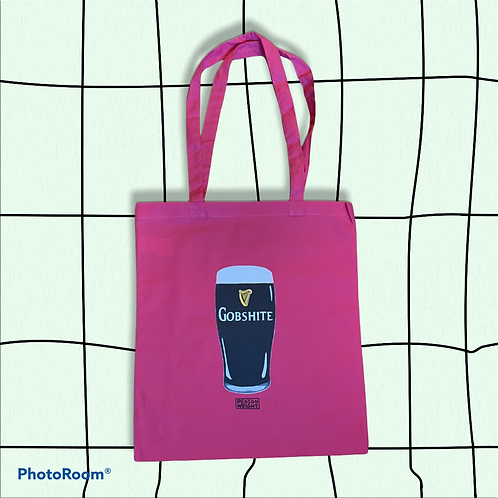 Pink Gobshite Tote Bag