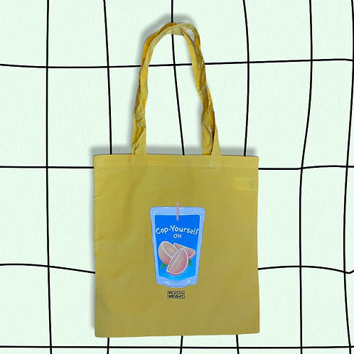 Yellow Cop On Tote Bag