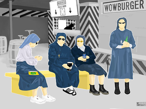 Nuns in Workmans A5