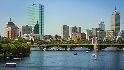The skyline of Boston in Massachusetts,
